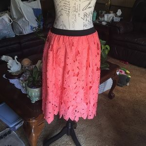 Super beautiful pink flower skirt